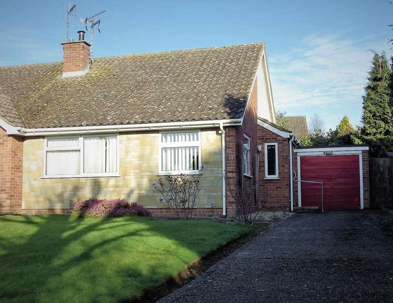 2 Bedrooms Semi Detached Bungalow for sale in Shimpling Close, Stowmarket IP14
