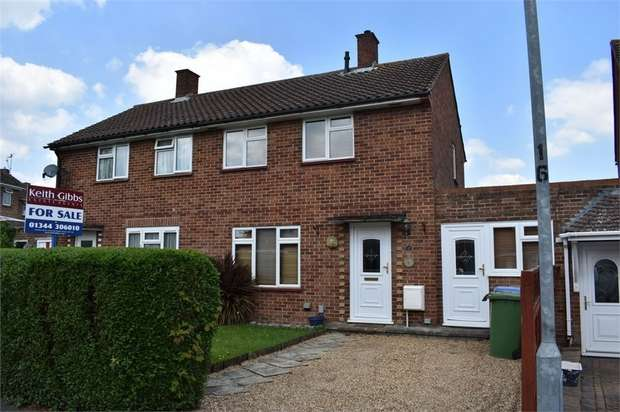 2 Bedrooms Terraced House for sale in Moordale Avenue, Priestwood, Bracknell, Berkshire