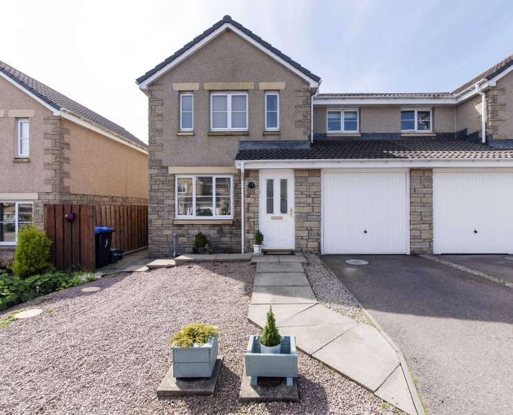 3 Bedrooms Semi Detached House for sale in Kingston Gardens, Ellon, Aberdeenshire, AB41 8AY