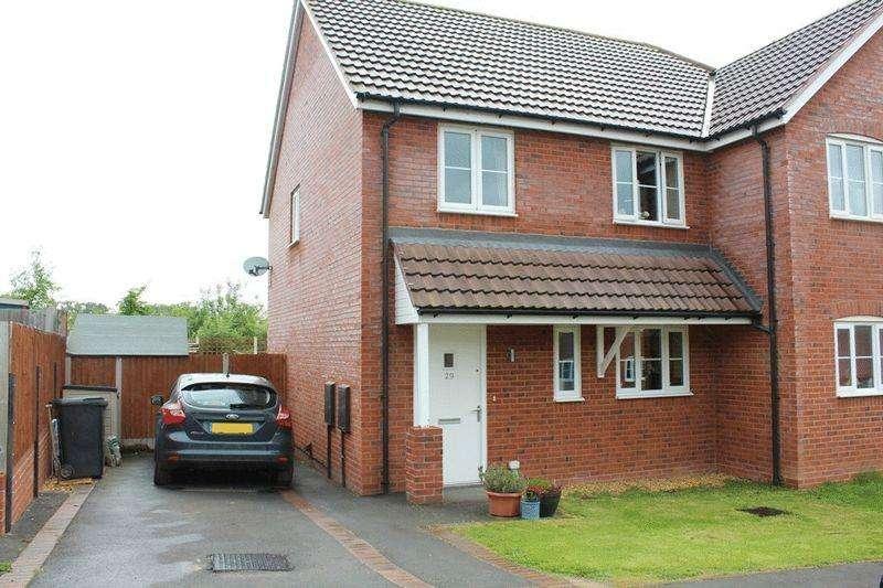 2 Bedrooms Semi Detached House for sale in Hanley Lane, Bayston Hill, Shrewsbury, SY3 0JN