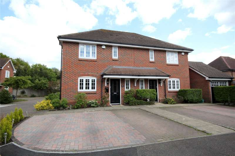 3 Bedrooms Semi Detached House for sale in Willow Close, Chertsey, Surrey, KT16
