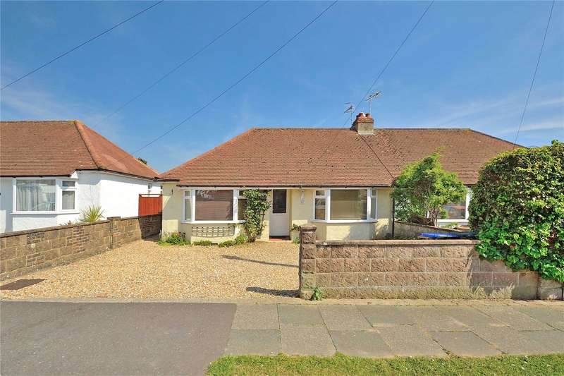 3 Bedrooms Semi Detached Bungalow for sale in Berriedale Drive, Sompting, West Sussex, BN15
