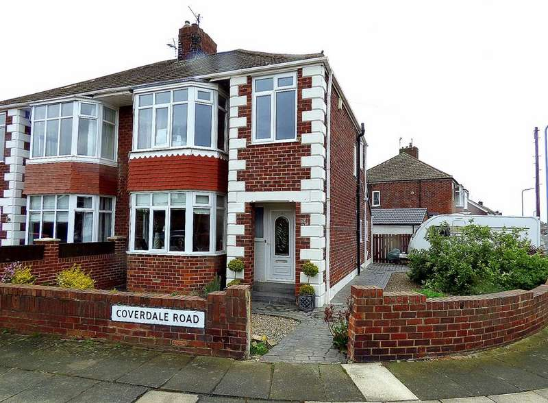3 Bedrooms Semi Detached House for sale in Coverdale Road, Stockton-On-Tees, TS19