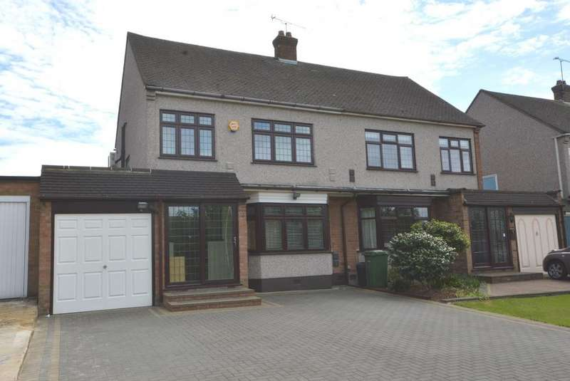 3 Bedrooms Semi Detached House for sale in Sackville Crescent, Harold Wood, Romford, RM3