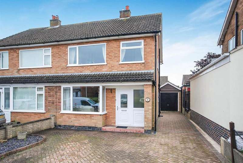 3 Bedrooms Semi Detached House for sale in Melbray Drive, Melton Mowbray