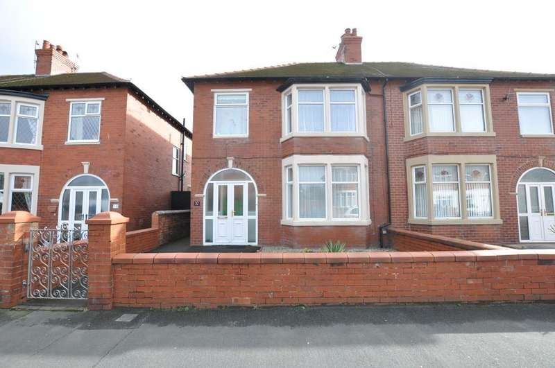 3 Bedrooms Semi Detached House for sale in Hove Road, St Annes, Lytham St Annes, Lancashire, FY8 1TP