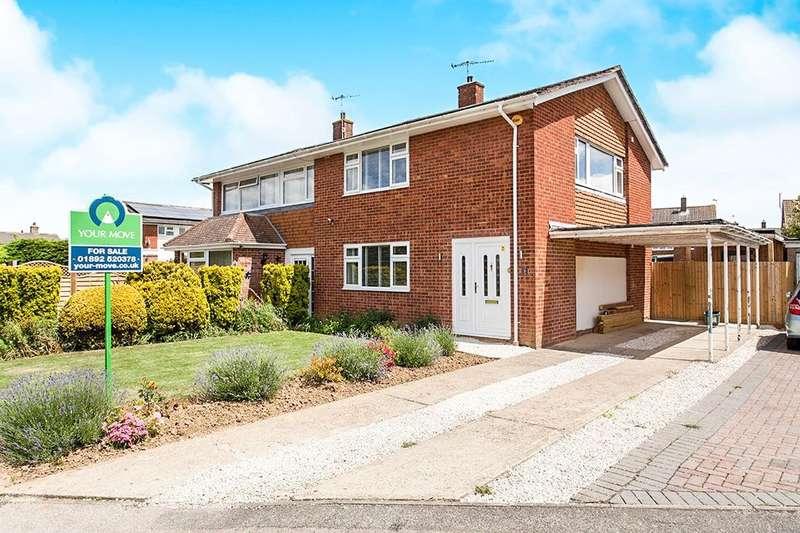 3 Bedrooms Semi Detached House for sale in Elgar Close, Tonbridge, TN10