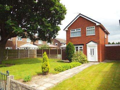 3 Bedrooms Detached House for sale in Slag Lane, Lowton, Warrington, Greater Manchester
