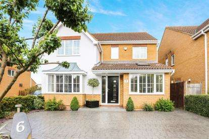 4 Bedrooms Detached House for sale in Pickering Close, Sandy, Bedfordshire