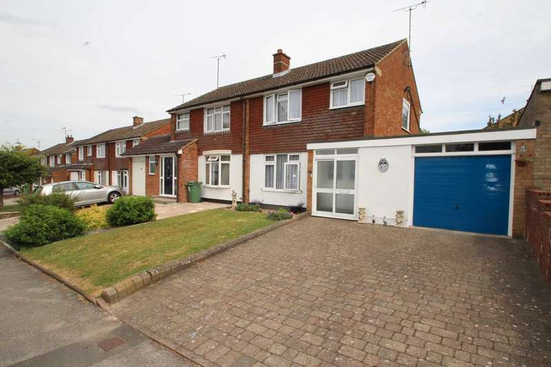 3 Bedrooms Semi Detached House for sale in Hilton Avenue, Dunstable, LU6 3QF