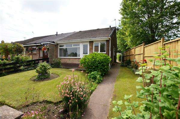 2 Bedrooms Semi Detached Bungalow for sale in Apedale Road, Chesterton, Newcastle-under-Lyme