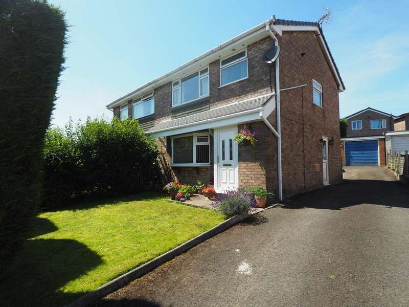 3 Bedrooms Semi Detached House for sale in Hollin Drive, Chapel-en-le-Frith, High Peak, Derbyshire, SK23 0NA