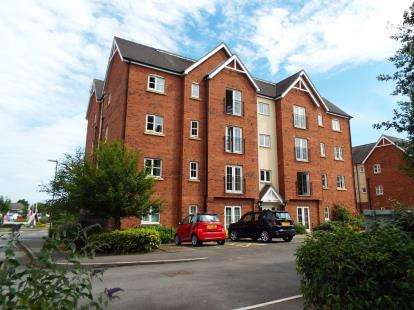 2 Bedrooms Flat for sale in Chamberlain Close, Uttoxeter, Staffordshire