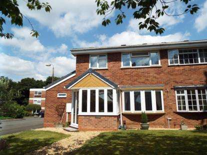 3 Bedrooms Semi Detached House for sale in Woodend Close, Redditch, Worcestershire