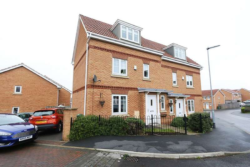 3 Bedrooms Semi Detached House for sale in The Wharf, Knottingley, West Yorkshire, WF11 8BT