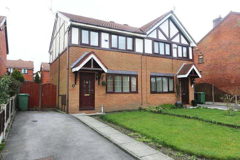 3 Bedrooms Semi Detached House for sale in Simkin Way, Oldham, Greater Manchester, OL8 2TH