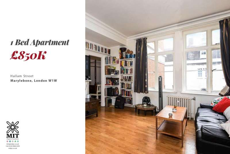 1 Bedroom Apartment Flat for sale in Hallam Street, Marylebone