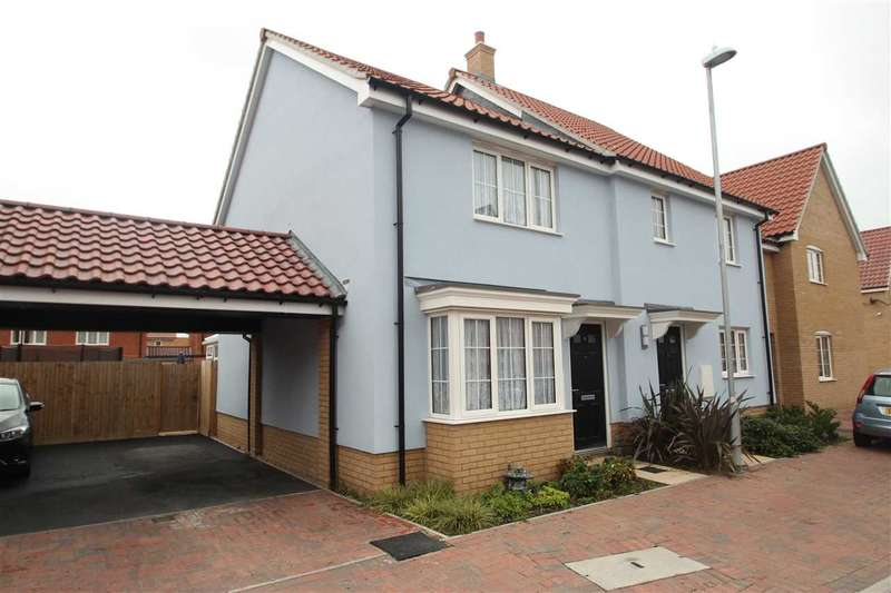 2 Bedrooms Semi Detached House for sale in Nicholls Way, Clacton-On-Sea