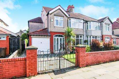 5 Bedrooms Semi Detached House for sale in Brentwood Avenue, Crosby, Liverpool, Merseyside, L23
