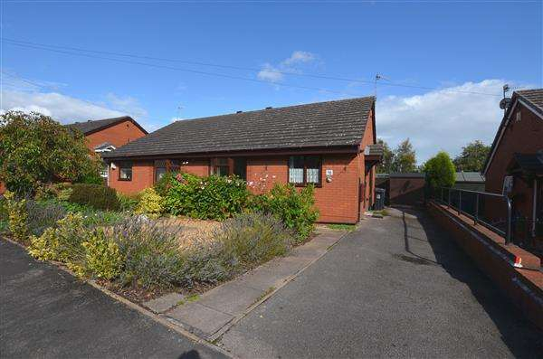 2 Bedrooms Semi Detached Bungalow for sale in Leamington Gardens, May Bank, Newcastle-under-Lyme