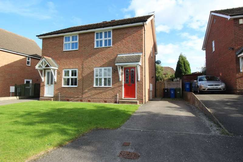 2 Bedrooms Semi Detached House for sale in Blackthorn Close, Hasland, Chesterfield, S41
