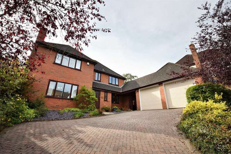 4 Bedrooms Detached House for sale in Birchwood, Park Wood Drive, Baldwins Gate, Newcastle Under Lyme