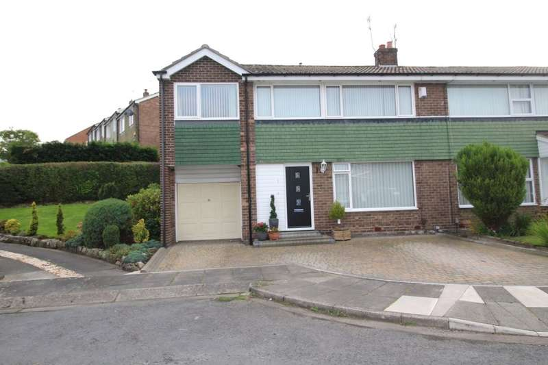 4 Bedrooms Semi Detached House for sale in Cheam Close, Whickham, Newcastle Upon Tyne, NE16