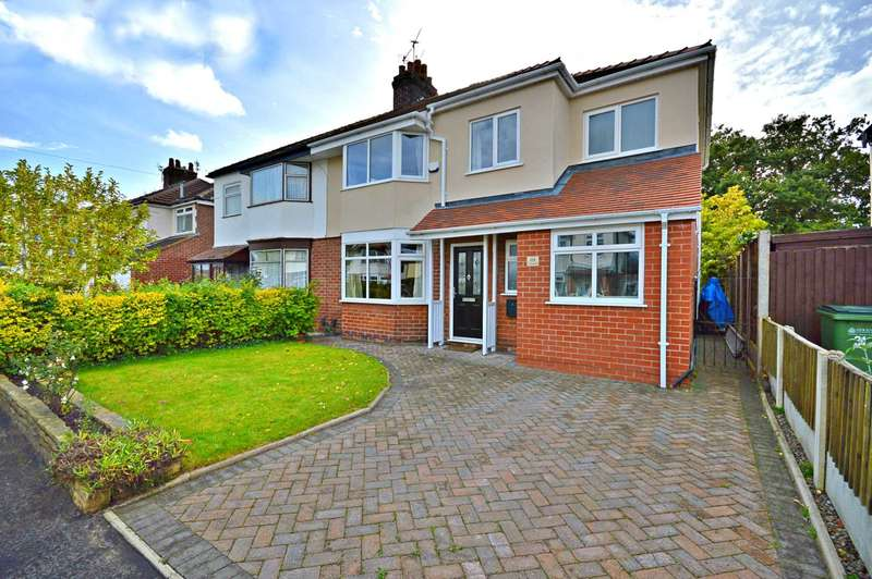 4 Bedrooms Semi Detached House for sale in Crossefield Road, Cheadle