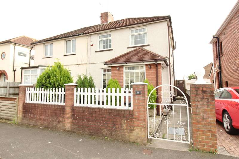 3 Bedrooms Semi Detached House for sale in Greenmeadow Avenue, Newport, NP19