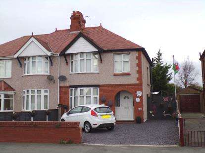 3 Bedrooms Semi Detached House for sale in Dyserth Road, Rhyl, Denbighshire, LL18