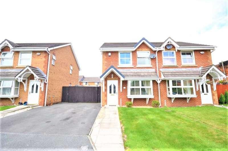 3 Bedrooms Semi Detached House for sale in Heatherfield Place, Ashton, Preston, Lancashire, PR2 2DP