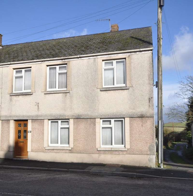 3 Bedrooms End Of Terrace House for sale in Gynnin View, High Street, St.Clears SA33 4ED