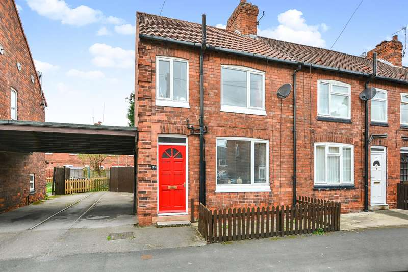 2 Bedrooms End Of Terrace House for sale in Powell Street, Selby, YO8 4BX