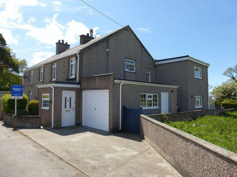 3 Bedrooms Semi Detached House for sale in Llanrug