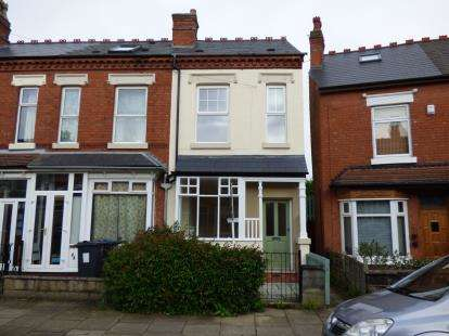 3 Bedrooms End Of Terrace House for sale in Melton Road, Kings Heath, Birmingham, West Midlands