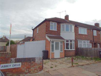 3 Bedrooms End Of Terrace House for sale in Abbey Drive, Leicester