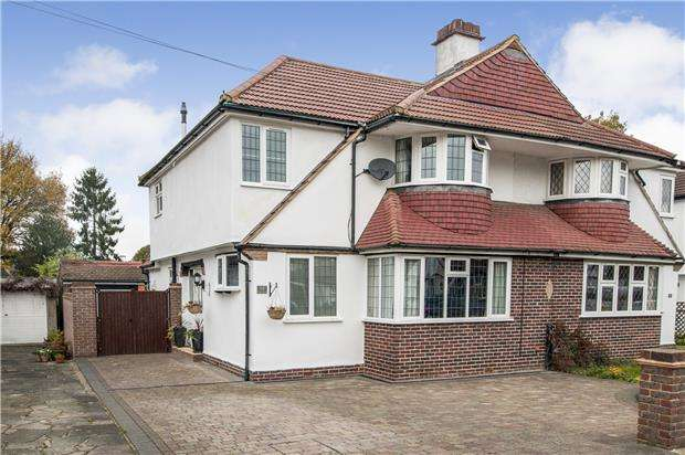 4 Bedrooms Semi Detached House for sale in Willett Close, Petts Wood, ORPINGTON, Kent, BR5
