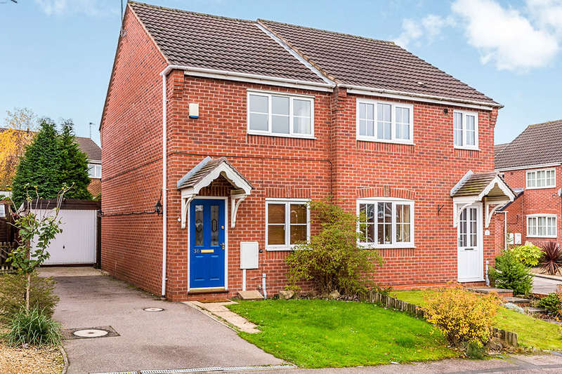 2 Bedrooms Semi Detached House for sale in Rowley Close, Swadlincote, DE11