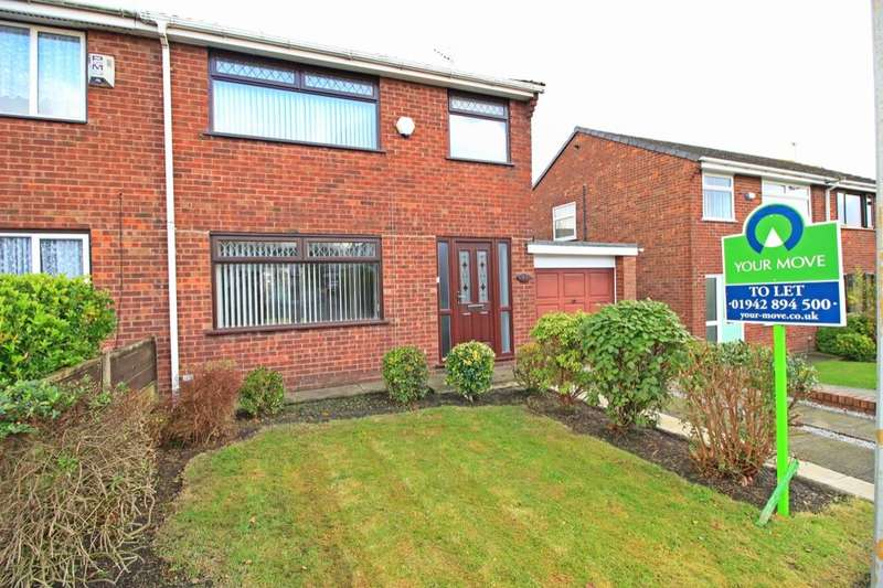 3 Bedrooms Semi Detached House for rent in Chanters Avenue, Atherton, Manchester, M46