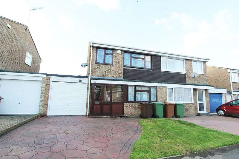 3 Bedrooms Semi Detached House for sale in Tutsham Way, Paddock Wood, Tonbridge, Kent, TN12 6UA