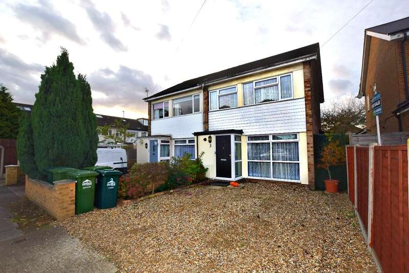 3 Bedrooms Semi Detached House for sale in Hughes Road, Ashford, Surrey, TW15