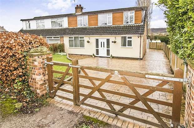 3 Bedrooms Semi Detached Bungalow for sale in Proffits Lane, Helsby, Frodsham, Cheshire