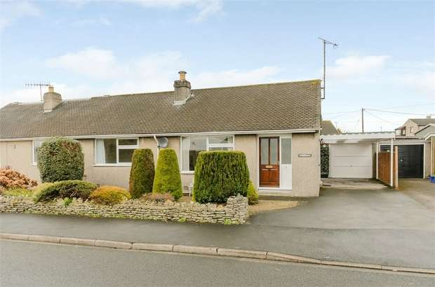 2 Bedrooms Semi Detached Bungalow for sale in Vicarage Road, Levens, Kendal, Cumbria