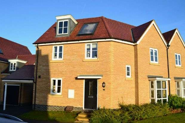 3 Bedrooms Semi Detached House for sale in Canal Way, Pineham Lock, Northampton NN4 9DF