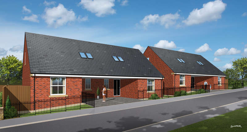2 Bedrooms Semi Detached Bungalow for sale in Plot 2, Maple Road, Staincross, Barnsley, S75 6HE