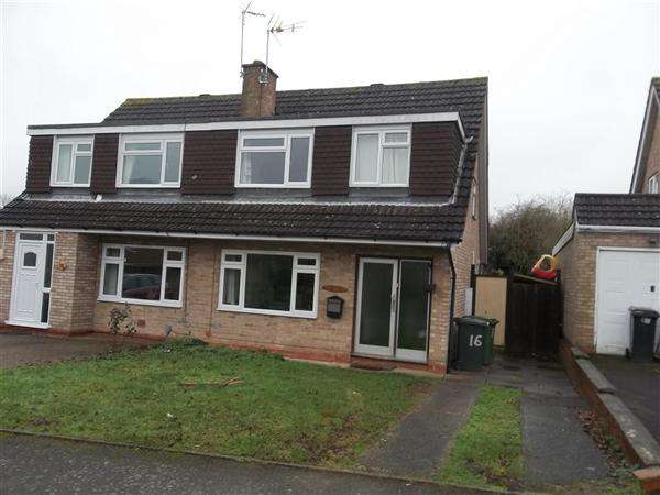 3 Bedrooms Semi Detached House for rent in Stapleton Close Redditch, Winyates West, Redditch