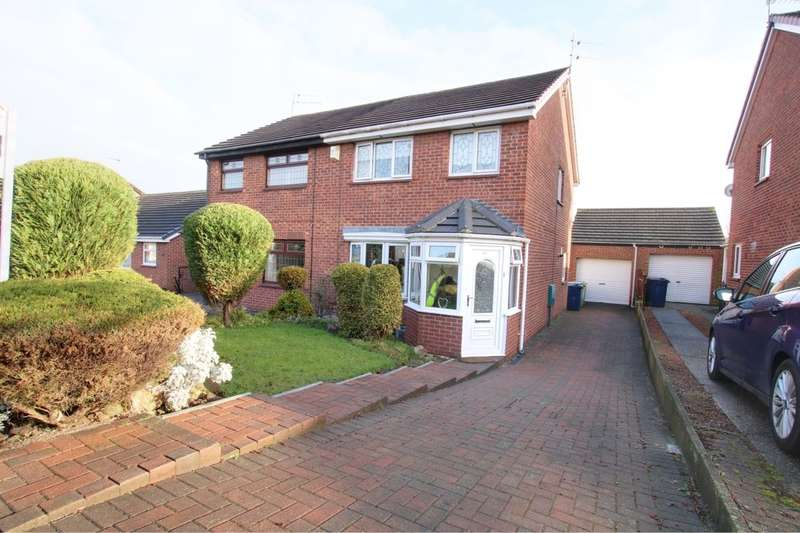 3 Bedrooms Semi Detached House for sale in Porthcawl Drive, Washington, NE37