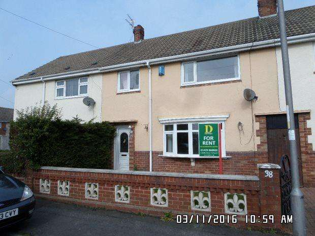 3 Bedrooms Terraced House for rent in LAZENBY ROAD, KING OSWY, HARTLEPOOL