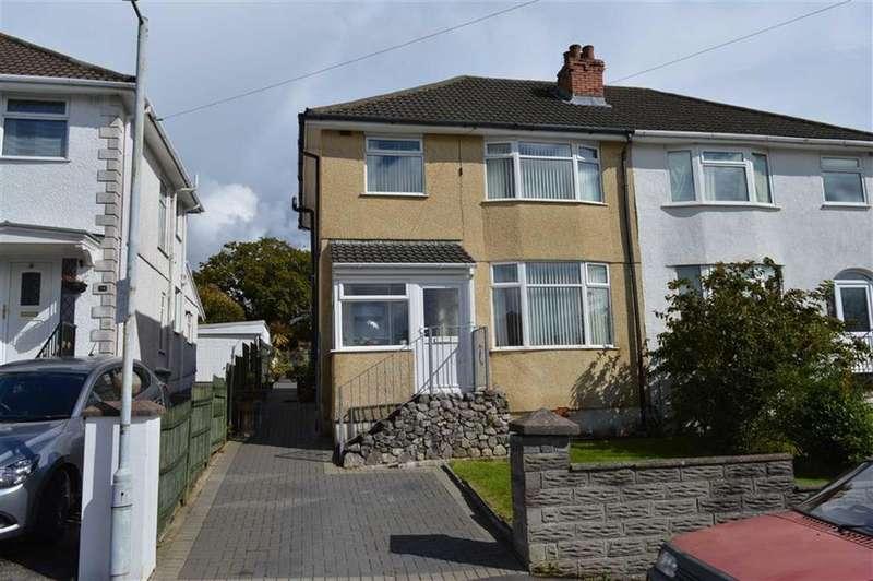 3 Bedrooms Semi Detached House for sale in Druslyn Road, West Cross, Swansea