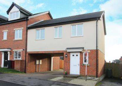 2 Bedrooms End Of Terrace House for sale in Croft House Way, Bolsover, Chesterfield, Derbyshire